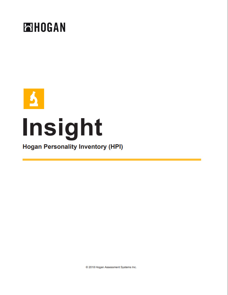 HOGAN Personality Inventory (HPI)